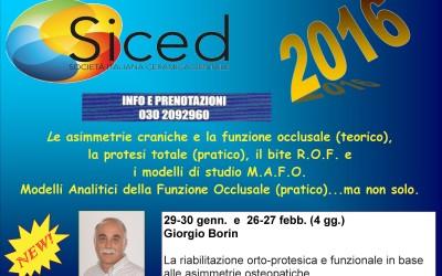 4 giornate per un corso completo – Brescia 2016