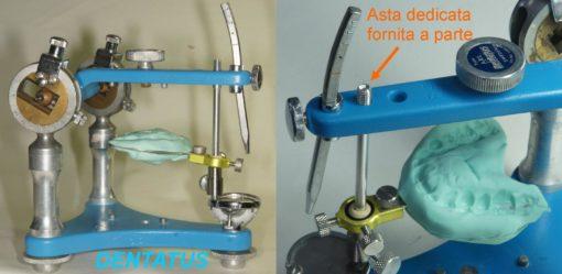 10-Forchetta su articolatore Dentatus con asta dedicata e fornita a parte su richiesta