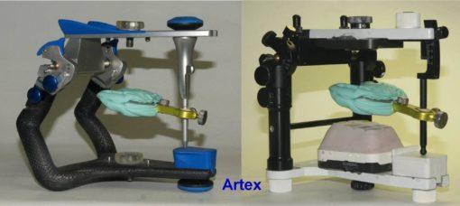 6-forchetta con staffa su articolatore ARTEX