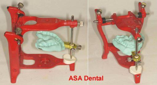 7-forchetta con staffa su articolatore ASA Dental
